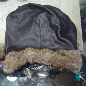 Vintage Diane Gail Leather and rabbit purse